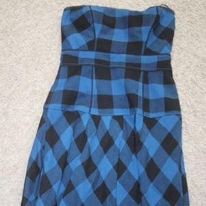 American Eagle Outfitters Plaid Blue Dress sz.0